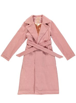 Corduroy long coat rose by Sea Me Happy