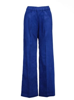 Sea Me Happy wide rib gypsy pants cobalt. Made in Belgium