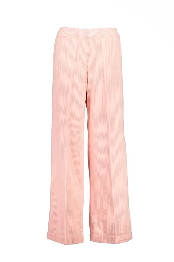 Sea Me Happy wide rib gypsy pants pink blush. Made in Belgium