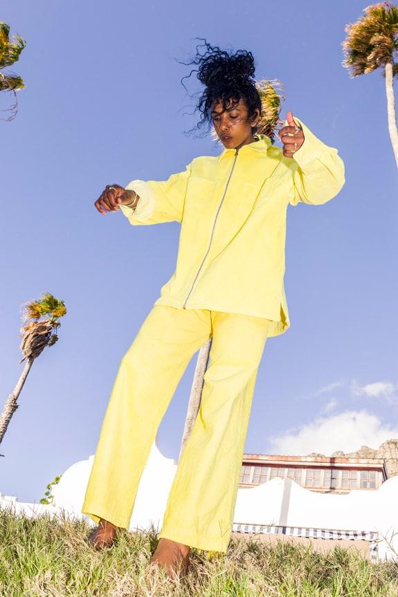 Sea Me Happy Gorgeous Jack and Gypsy pants banana yellow, corduroy