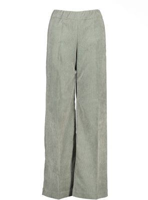 Sea Me Happy wide rib coton gypsy pants grey green. Made in Belgium.