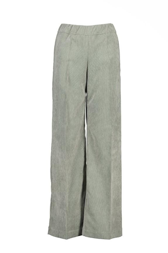 Sea Me Happy wide rib coton gypsy pants grey green. Made in Belgium.