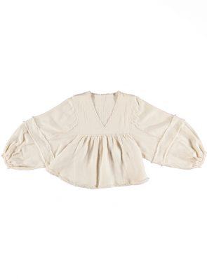 Maya blouse oat, 100% cotton