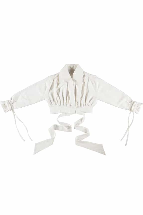 Nono Blouse white, 100% lightweight linen