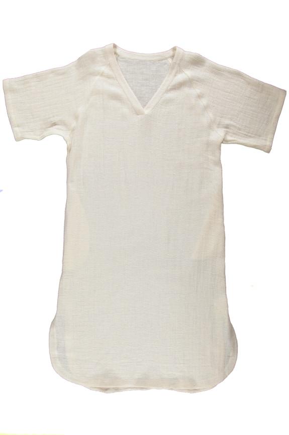 Sea Me Happy Ritual dress ecru in waffle fabric