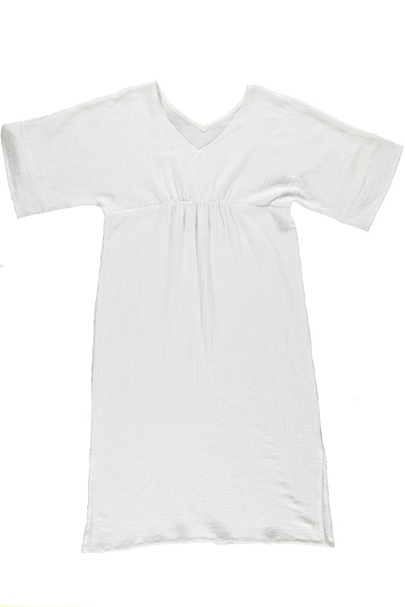Sea Me Happy Bamboo Cozumel Dress white