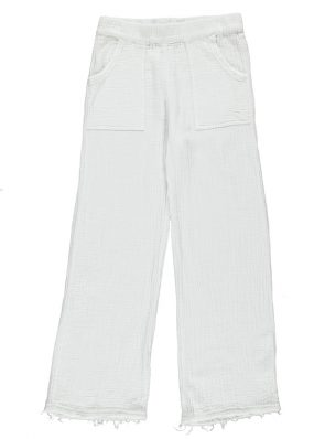 Sea Me Happy Bamboo Pants white