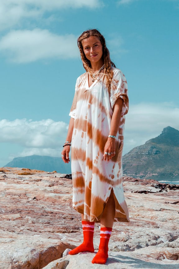 Sea Me Happy Ocean Breeze dress tie dye sand