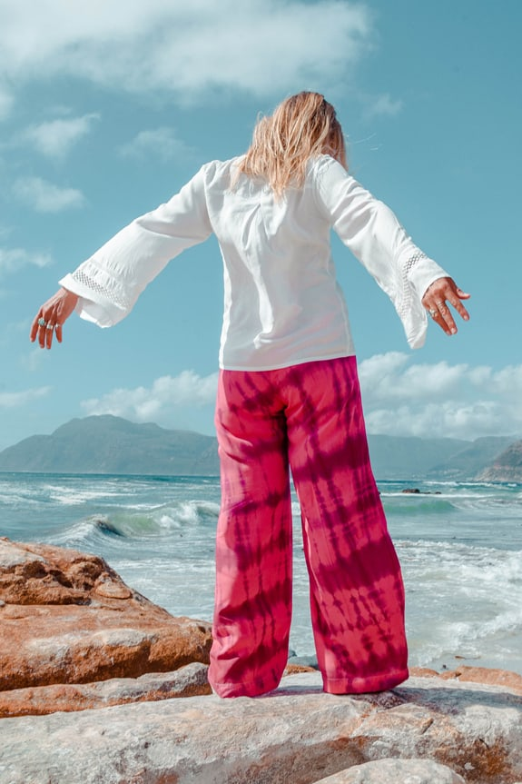 Sea Me Happy Barefoot pants tie dye
