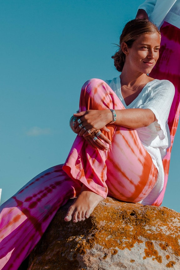 Sea Me Happy Barefoot pants tie dye