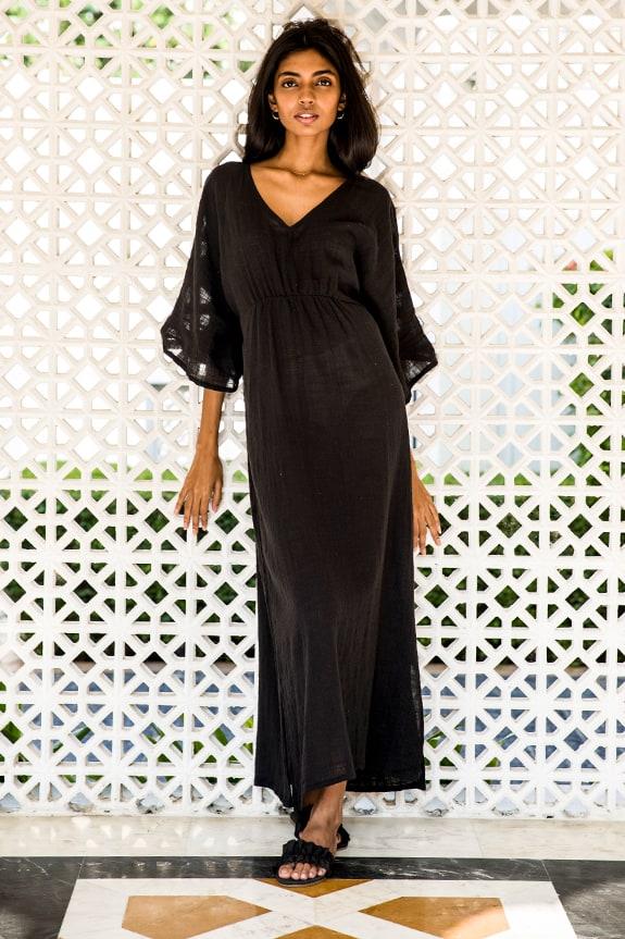 Sea Me Happy Cozumel dress lightweight black