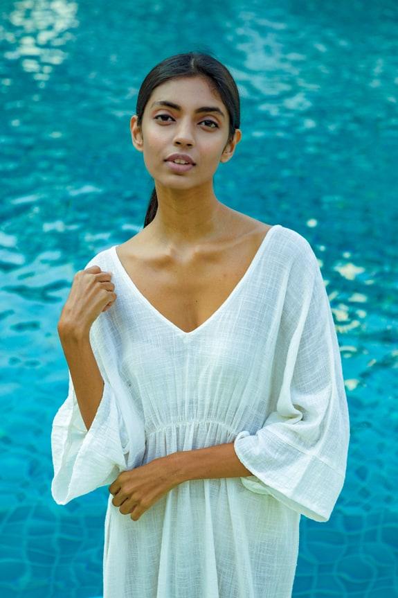 Sea Me Happy Cozumel dress lightweight ecru