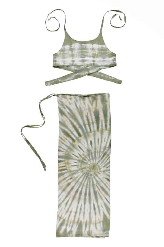 Sea Me Happy Ensemble tie dye khaki