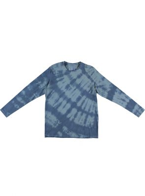 Sea Me Happy Tie dye T-shirt with long sleeves black khaki