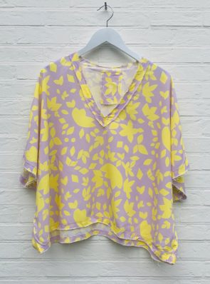Sea Me Happy Noosa Top yellow/purple