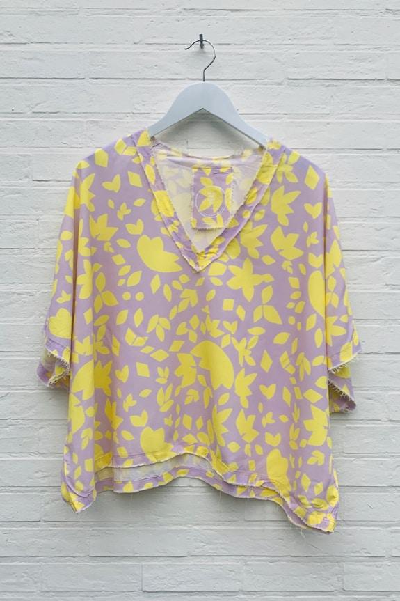 Sea Me Happy Noosa Top yellow/purple