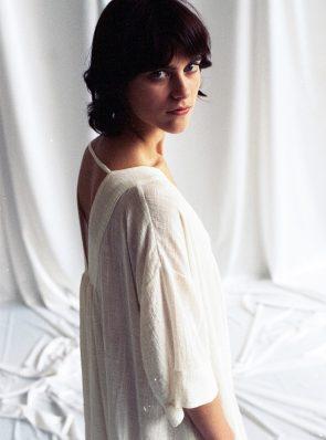 Sea Me Dress short sleeves lightweight, white, 100% cotton