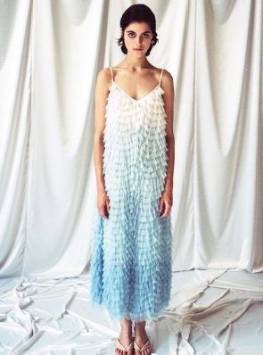 Sea Me Happy Feather Dress sky blue