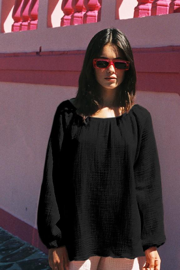 Morning blouse bamboo black