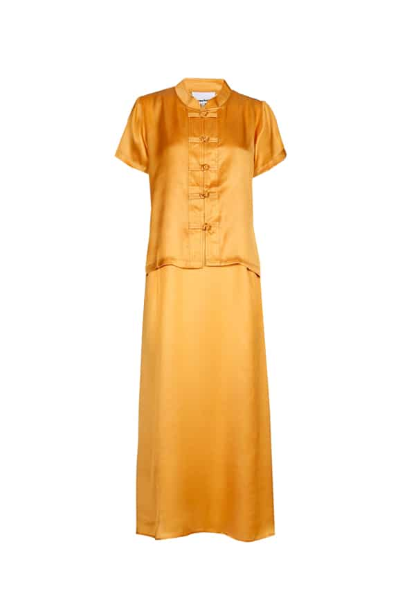 Sea Me Happy Lotus Top gold and Slip Dress gold in modal
