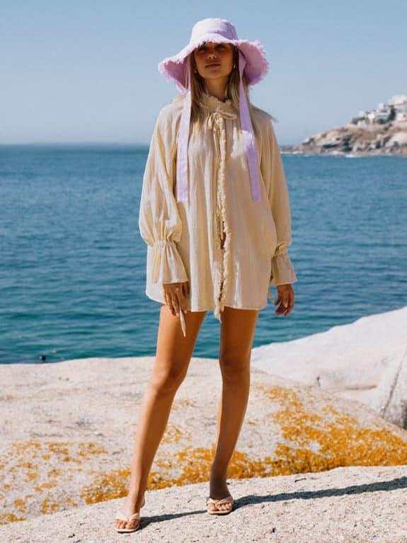 Sea Me Happy Pirate Blouse tea and Soleada hat
