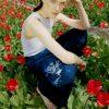 Sea Me Happy X Façon Jacmin collab - Pixel pants midnight blue